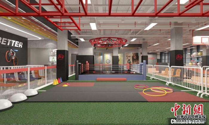 如今,福州艾斯奇少儿体能学院的训练场所空空如也。(资料图) 受访者供图 摄